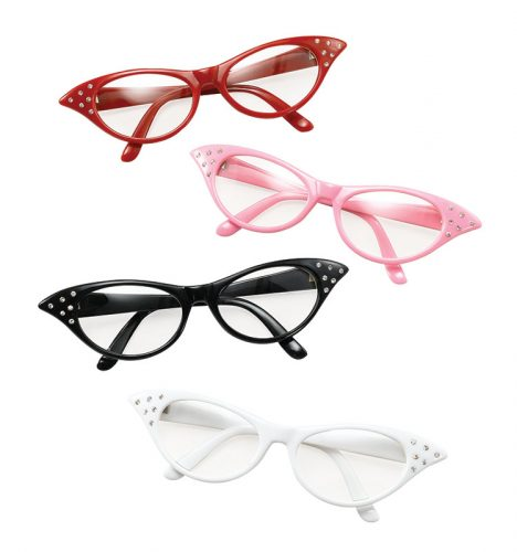 Pink 50s Clear Lens Glasses-486