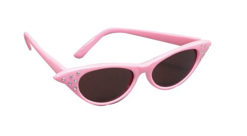 Pink 50s Dark Lens Glasses-0