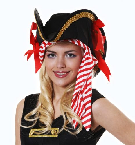 Deluxe Pirate Hat With Bandana-0