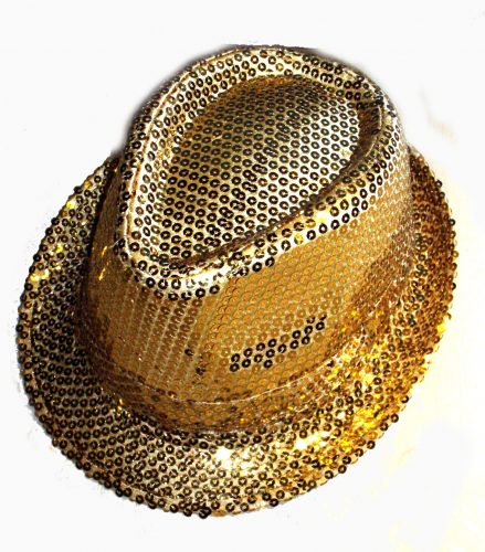 Gold Sequin Gangster Hat-344