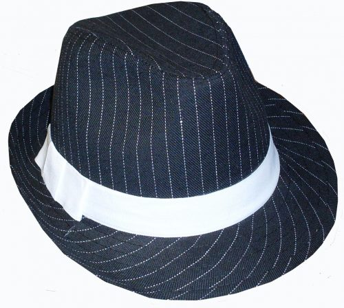 Black Gangster Hat-342