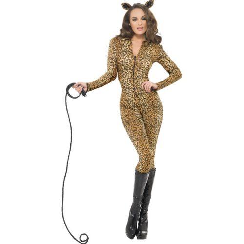 Fever Leopard Print Whiplash Costume-0