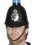 Police Helmet with Flashing Siren Light-239027