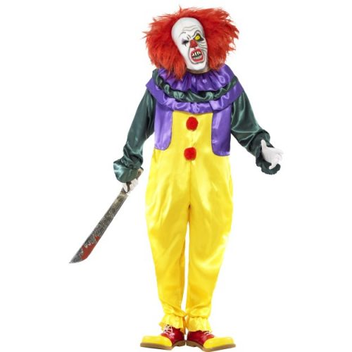 Classic Horror Clown Costume-0