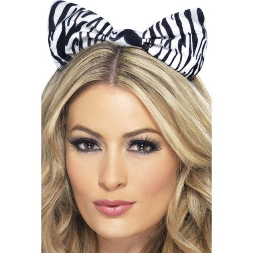 Zebra Bow on Headband-0