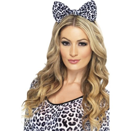 Leopard Bow on Headband-0