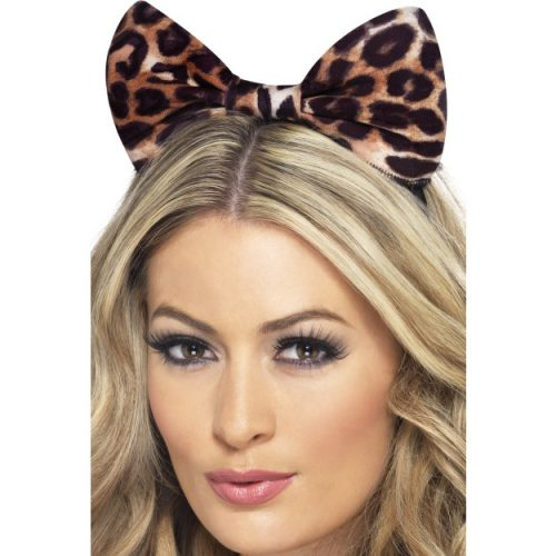 Cheetah Bow on Headband-0