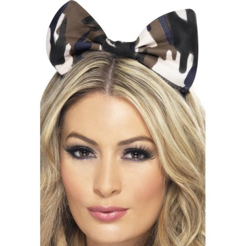 Army Bow on Headband-0