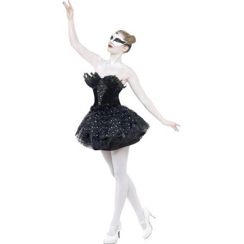 Gothic Swan Masquerade Costume-0