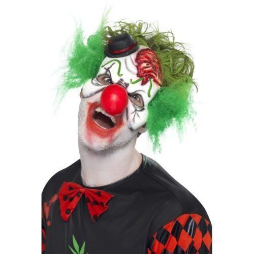 Latex Cut Throat Clown Mask-0