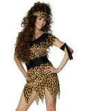 Cavewoman Costume, Black and Brown-247506