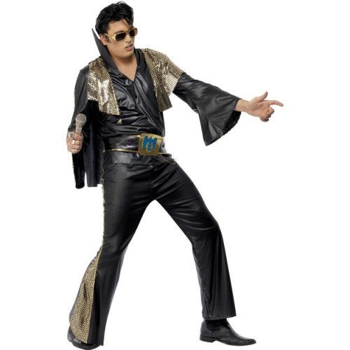 Elvis Black and Gold Costume-0