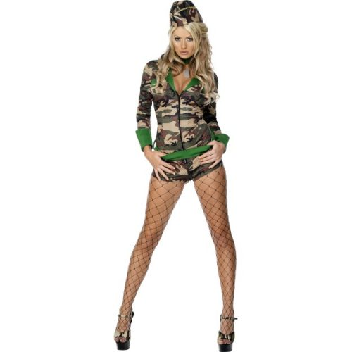 Fever Combat Chick Costume-0