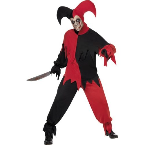 Dark Jester Costume, Black and Red-0