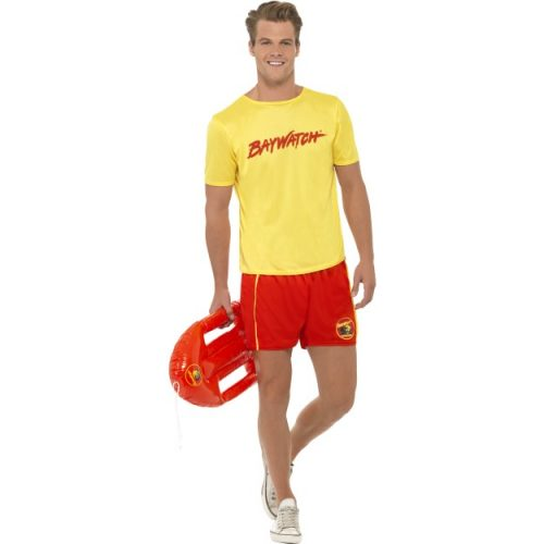 Baywatch Men's Beach fancy dress Costume-0