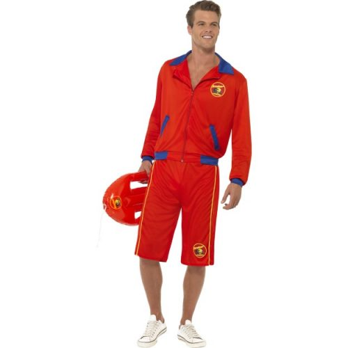 Baywatch Beach Men's Lifeguard Costume-0