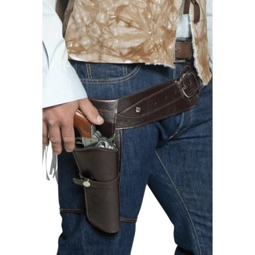 Authentic Western Wandering Gunman Belt & Holster-0
