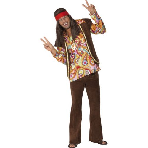 Psychedelic 1960s Hippy Costume-0