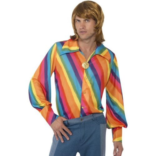 1970s Rainbow Colour Shirt-0