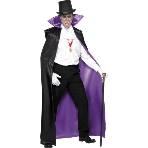 Count Reversible Cape, Black and Purple-0