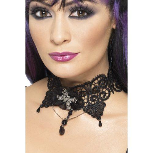 Gothic Lace Choker-0