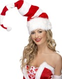 Striped Santa Hat, Red and White-257104