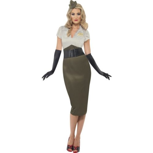 WW2 Army Pin Up Spice Darling Costume-0