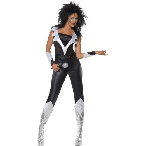 Glam Rock Chick Costume fancy dress-0