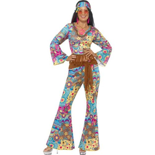 Hippy Flower Power Costume-0