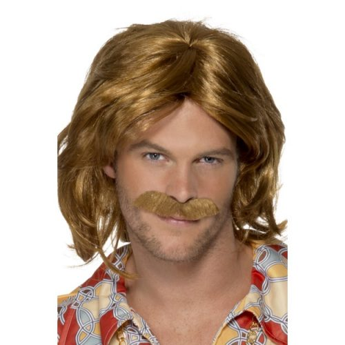 70's Super Trouper Wig & Moustache-0