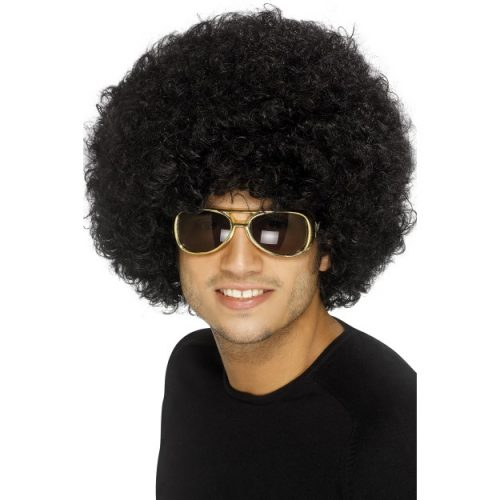70's Funky Afro Wig-0
