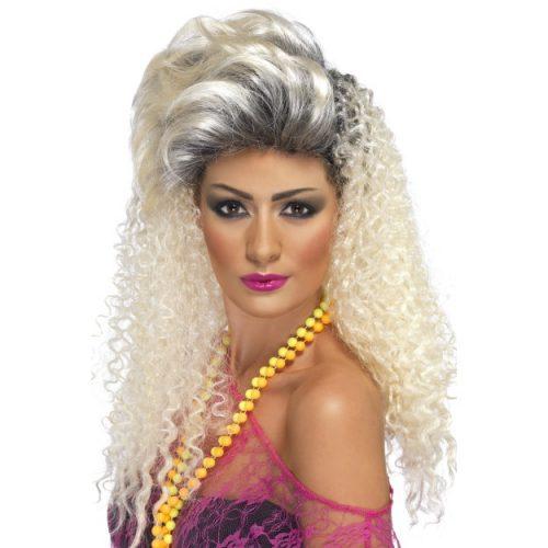 80's Bottle Blonde Wig-0