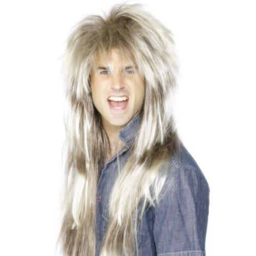 80's Mega Mullet Wig, Blonde and Brown-0