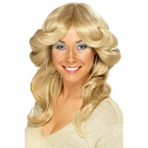 70's Flick Wig fancy dress-0