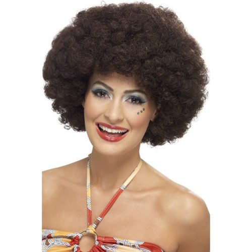 70's Curly Afro Wig-0