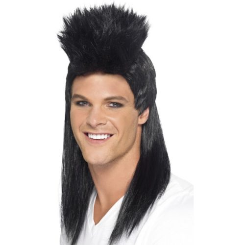 80's Rocker Mullet Wig, Long-0