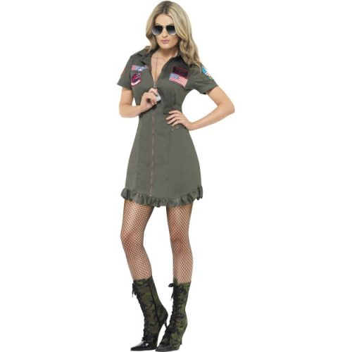 Top Gun Deluxe Female Costume-0
