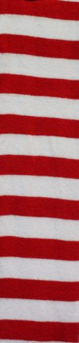 WW4166-RED AND WHITE STRIPED OVER THE KNEE SOCKS -261862