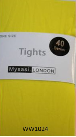 WW1024-SUNSET YELLOW OPAQUE TIGHTS-0