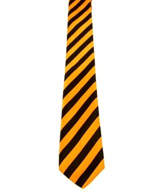 WW5862 Black and Orange striped tie -261915