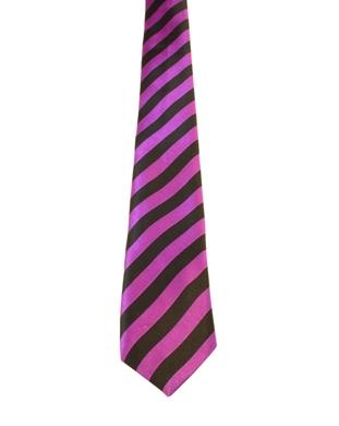 WW5856 Black with purple striped tie -261917