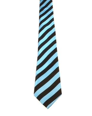 WW5860 Black with turqoise striped tie-261919