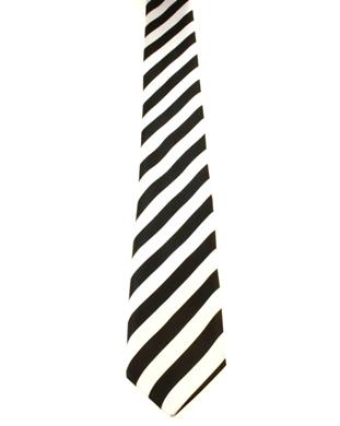 WW5854 Black with white striped tie -261920
