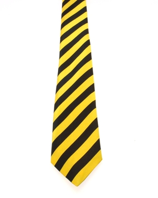 WW5855 Black with yellow striped tie-261921