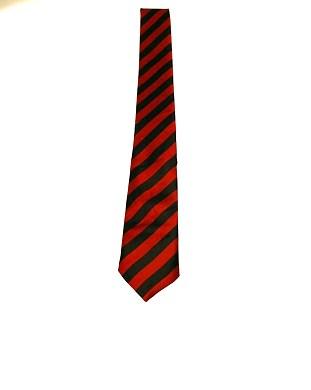WW5876 Black with burgendy striped tie -261922