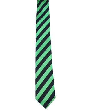 WW5857 Black with emerald striped tie -261923