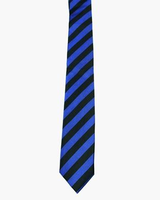 WW5858 Black with royal blue striped tie -261924