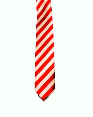 WW5866 White with red striped tie -261925