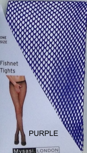 PURPLE FISHNET TIGHTS-262320