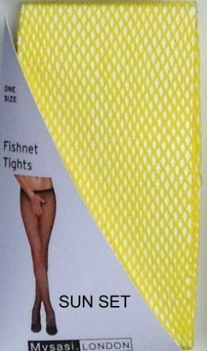 YELLOW FISHNET TIGHTS-262321